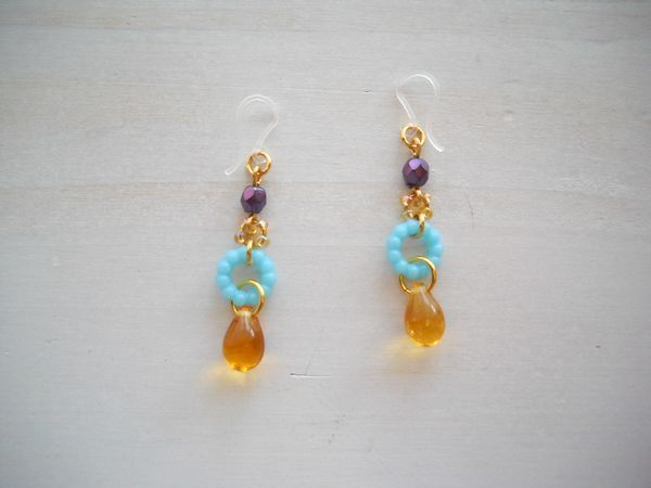 Candy drop pierced earrings 樹脂ピアス