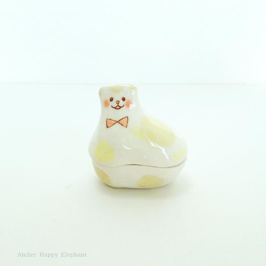 子猫のオブジェ 2(蓋物)
