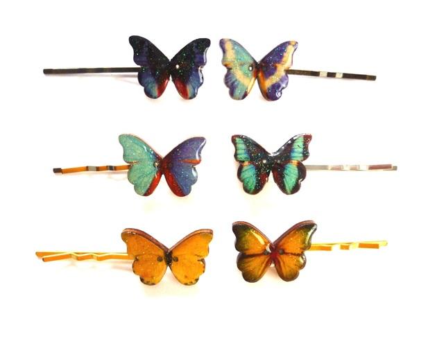 32430940f456a6 追加再販】きれいな蝶々のヘアピン | ハンドメイドマーケット minne