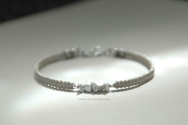 nameless silver bracelet