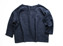 ◇◆linen pintuck blouse_navy