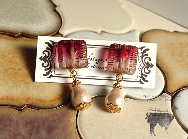 Arabic earrings red