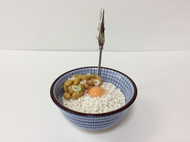 納豆ご飯のメモスタンド