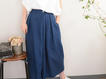 ◇◆linen gaucho pants_blue