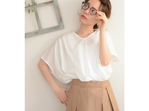 ◇◆linen×cotton Vneck blouse_off