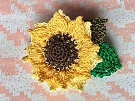 向日葵のコサージュ