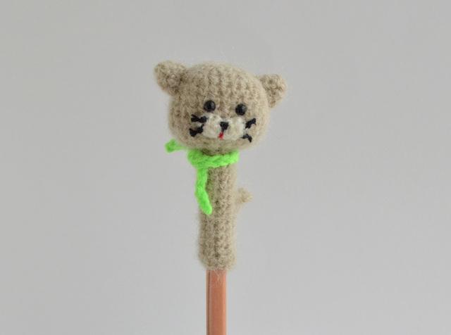 【再販】鉛筆帽子|オートミール色のネコ
