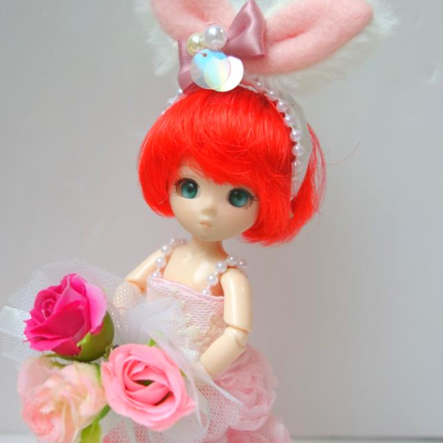 d3e55660ee923 夢見るうさぎ~薔薇の花のウェディングドレス (ピンク)~ジューンブライド ...
