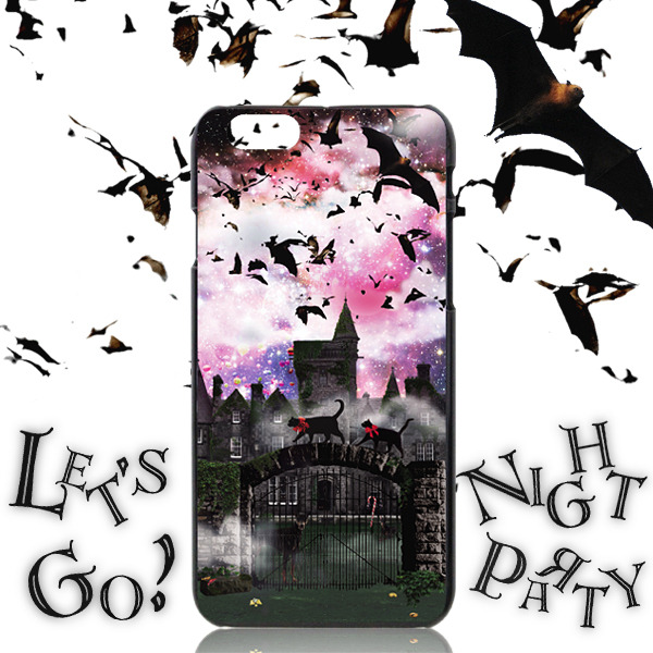 iPhone ケース おさんぽネコin NIGHT☆PARTY