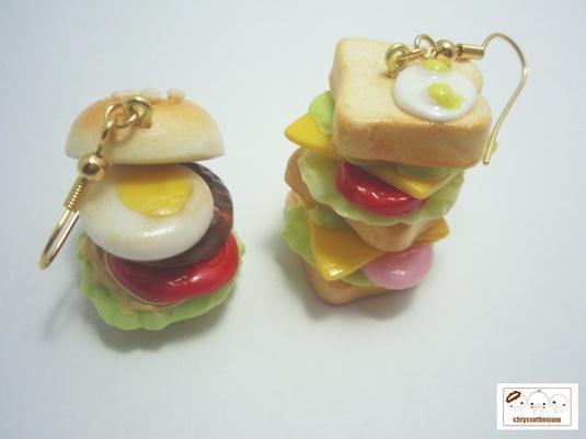 【再販】食べちゃダメよ!サンドイッチ&ハンバーガーピアス