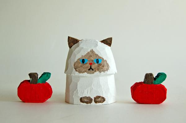 木彫り人形 ペルシャ2 ポイント種 4セ...