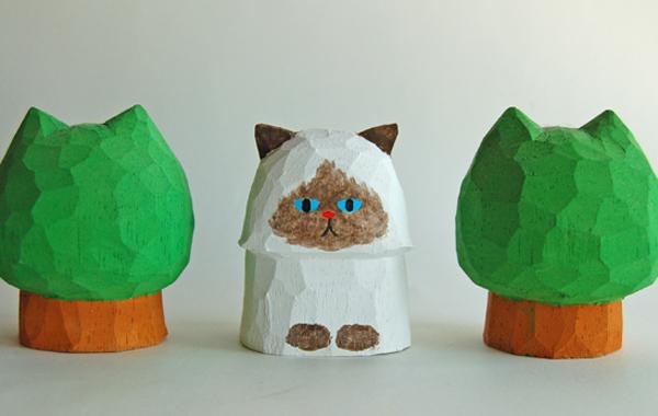 木彫り人形 ペルシャ ポイント種 5セ...