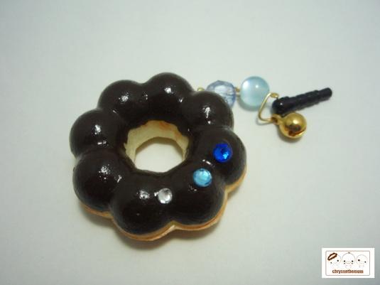 【値下げ】ドーナツのイヤホンジャック 〜チョコ〜