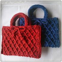 【glen…さま ご予約品】なわ編みミニミニバッグ・ペア