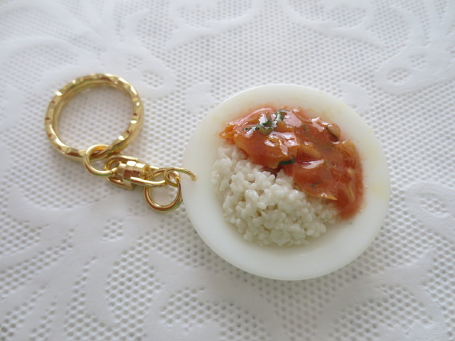 ☆豚と玉ねぎの餡かけ丼プレートキーホルダー☆