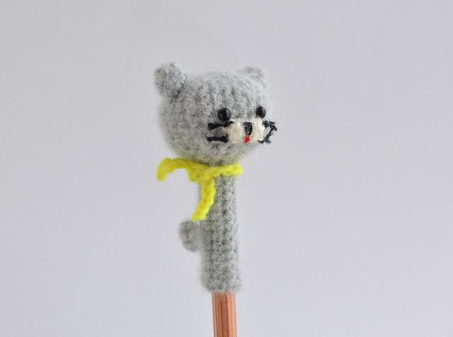 【再販】鉛筆帽子|グレーネコ