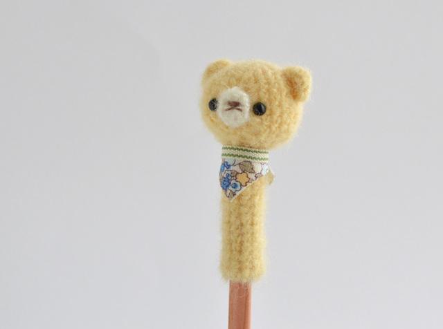 鉛筆帽子|たまご色のクマ