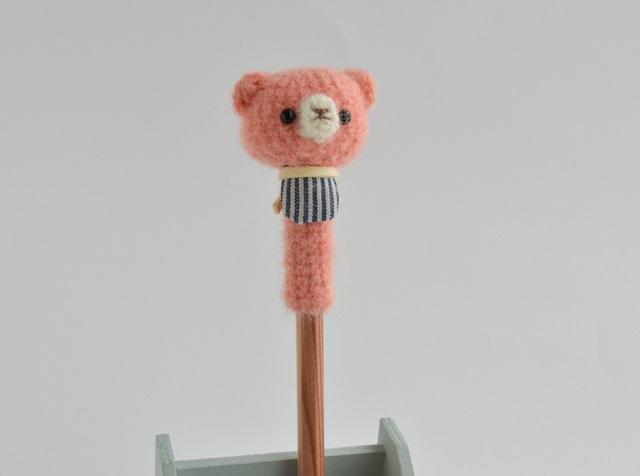 鉛筆帽子|ピンクくま