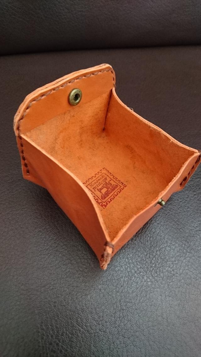 牛革コインケース オレンジブラウン