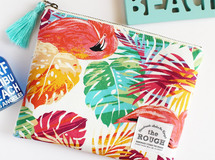 ▼△特集掲載△▼BOTANICAL & FLAMINGO POUCH /saya. × the ROUGH