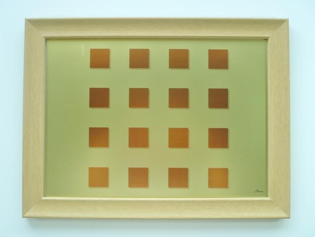 モダンなアートパネル壁飾り-木金