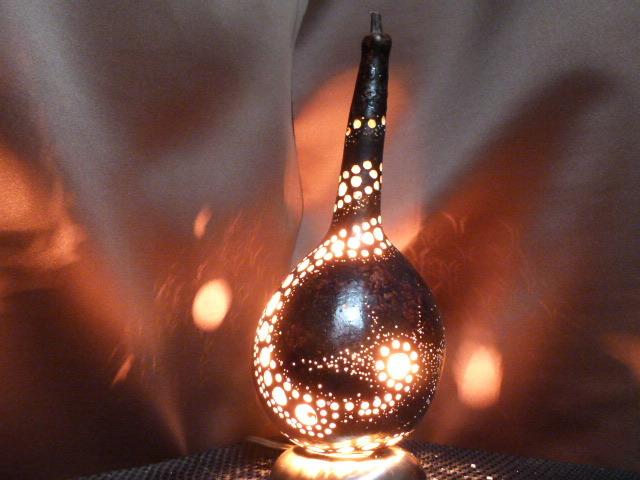 ひょうたんランプ 螺旋と宇宙 白熱球