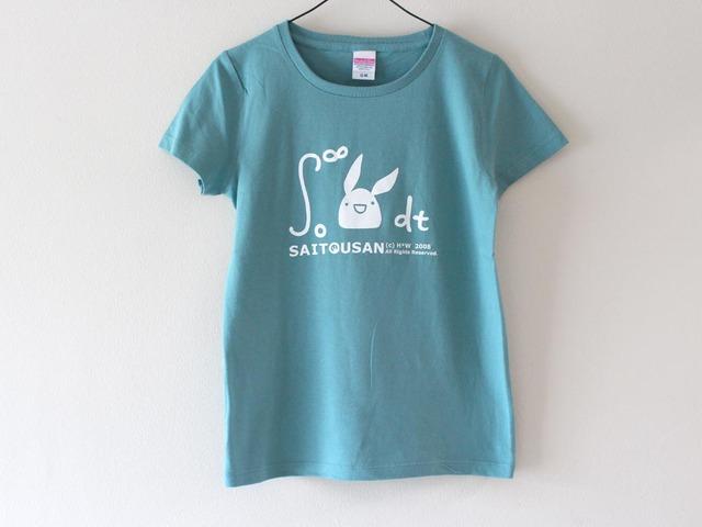 積分サイトウサンTシャツ女性用M セージブルー