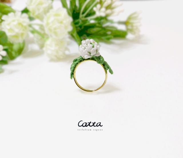 シロツメクサの指輪