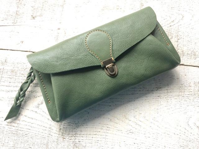 【残り2点!即納品可能】長財布 「series-envelope」ミント