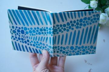 100のこと「水の泡の底」 型染め手帳