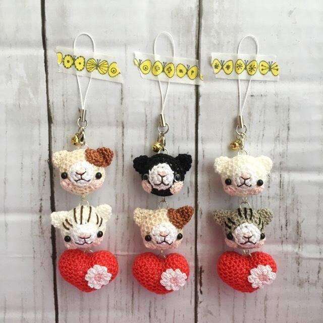 【受注生産】(2)あみぐるみ ネコさん...