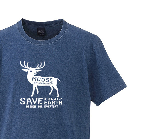 moose インディゴ Tシャツ【受注生産品】