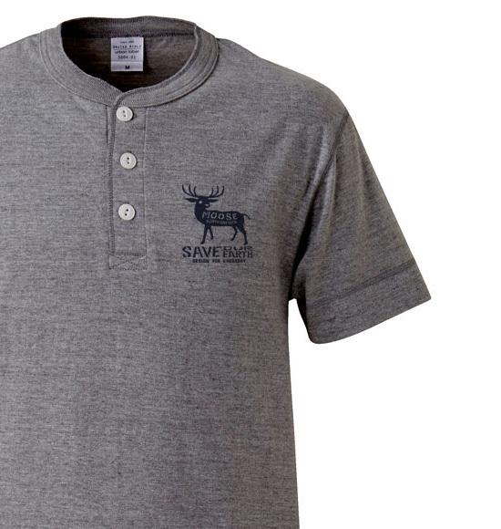 moose ヘンリーネックTシャツ 【受注生産品】