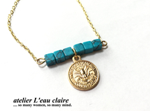 Turquoise & Coin bracelet