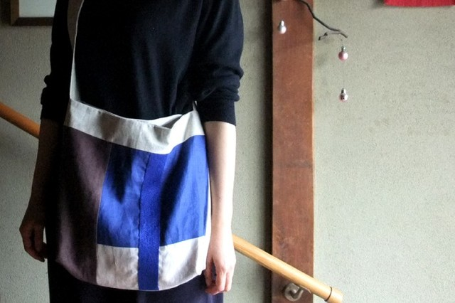 itoiro bag (blue brown)