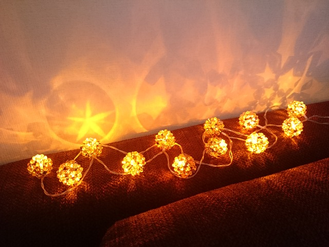 *ほうき星のガーランドライトS* LED モビール オーナメント 間接照明 クリスマス ウェディング ...