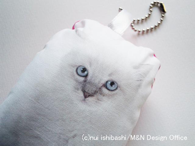 猫(写真)のふわふわキーホルダー