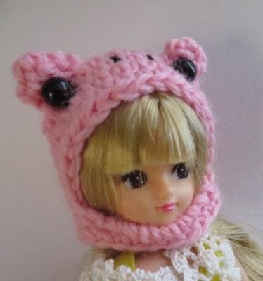【新作】お人形さん用お帽子(カエルち...