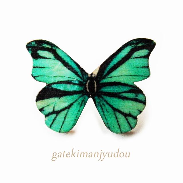 蝶のウッドチタンピアス〈右耳用〉