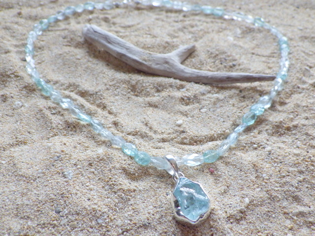 Seaside Aquamarin Necklace*sv925