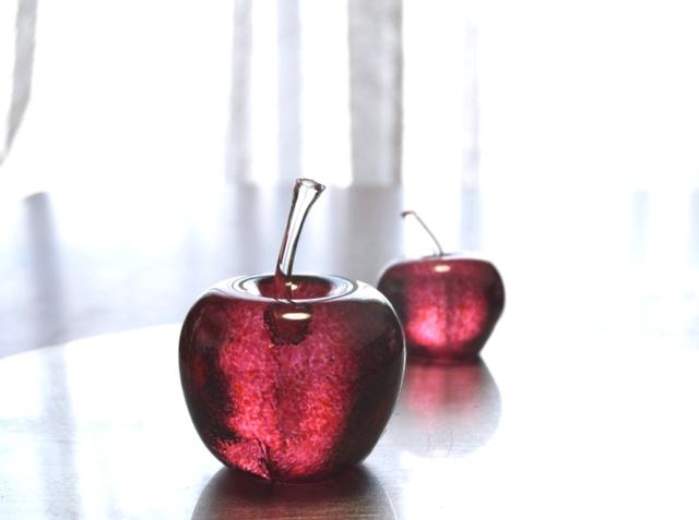 ガラスのリンゴ ペア