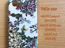 【リバティ生地】 セリーヌ赤 AQUOS Compact