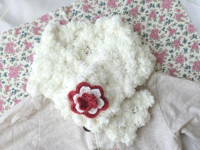 【受注後制作】お花のふわもこネックウォーマー