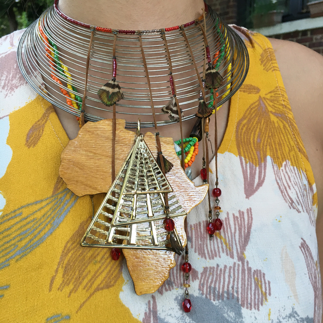 アフリカ ウッド ピラミッド シルバーチ...