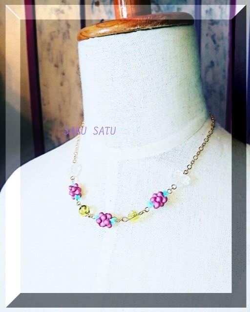 【一点もの】ライラックの花 ネックレス