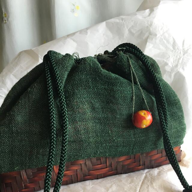 麻布の巾着