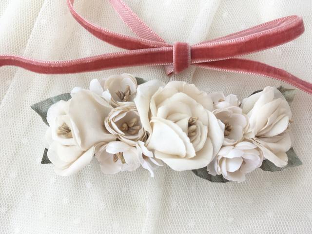 白薔薇のロマンティックバレッタ オー...