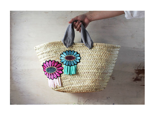 <New>Flower Patch kago bag