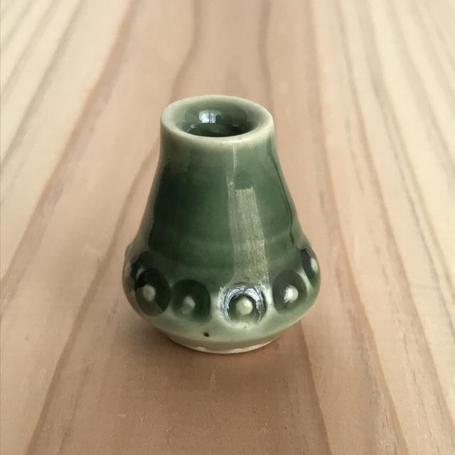 ミニチュア陶器☆花入 輪つなぎ