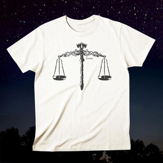 12星座Tシャツ「Libra(天秤座)」